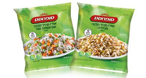 אורז מהיר הכנה עם ירקות איכותיים
