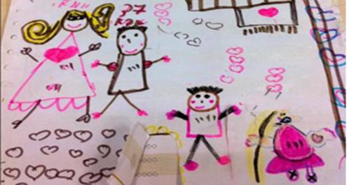 ציורי ילדים וטיולים משפחתיים