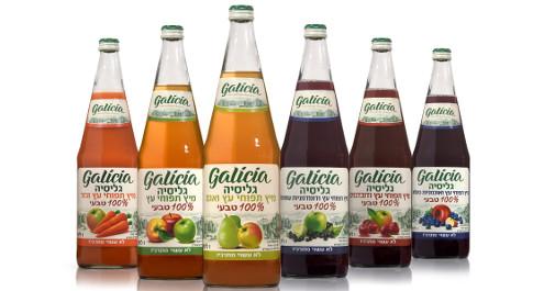 """משקאות בריאות בבקבוקי זכוכית כשרים לפסח מבית """"גליסיה"""""""